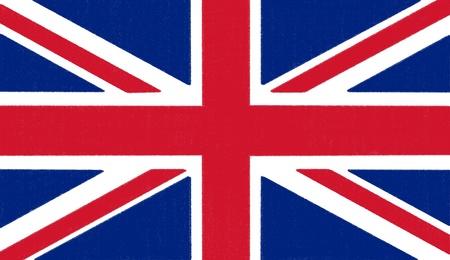 Dessin drapeau Angleterre par pastel sur papier de charbon de bois