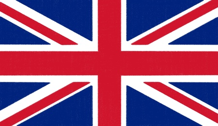 bandiera inghilterra: Inghilterra disegno flag di pastello su carta carbone