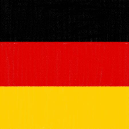 German flag drawing by pastel on charcoal paper  Stock Photo - 12100666