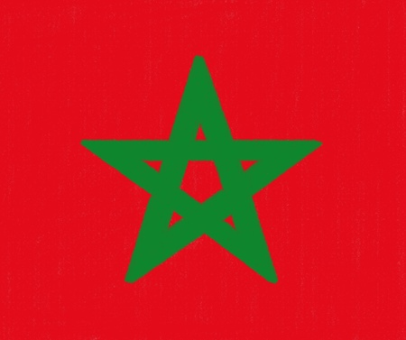 Morocco flag drawing by pastel on charcoal paper Stock Photo - 12100628