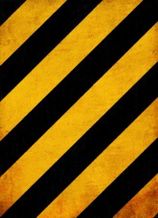 grunge noir et les lignes jaunes