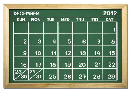close up of a calendar on a blackboard Stock Photo - 12100782
