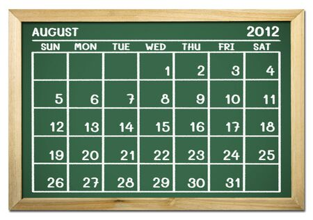 close up of a calendar on a blackboard  Stock Photo - 12100774