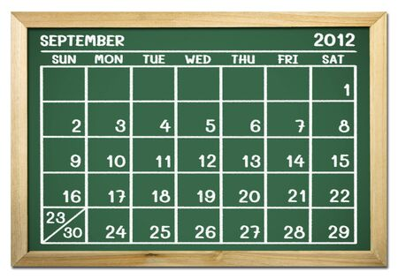 close up of a calendar on a blackboard  Stock Photo - 12100780