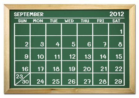 close up of a calendar on a blackboard Stock Photo - 12100780