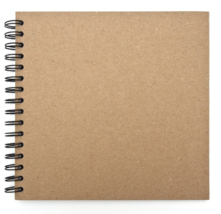 open notebook: recycled paper notebook front cover