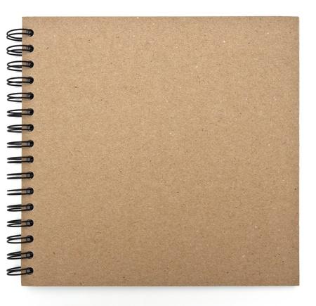 recyklovaný papír notebook přední kryt Reklamní fotografie - 12544790