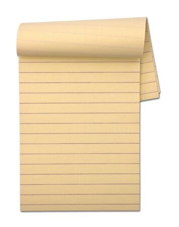 Notepad isolated on the white background  Stock Photo - 12544761