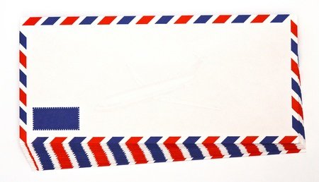 Envelope by air mail isolated  photo