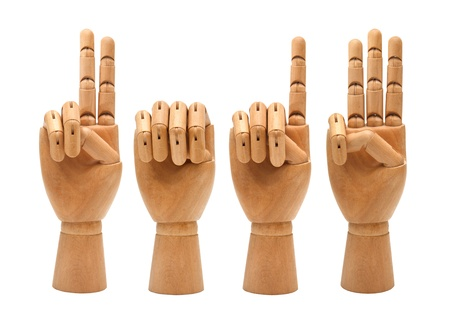 wooden hands forming number 2013 photo