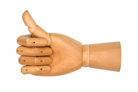 Wooden hand isolated on a white background Stock Photo - 13570916