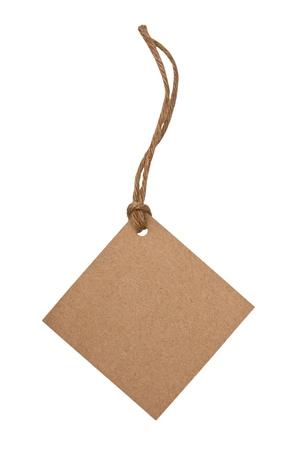 blank price label on white background Stock Photo - 13570678