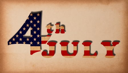 4th independent day with old antique vintage paper background  photo