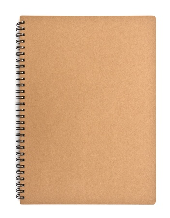 recycled paper notebook front cover Stock Photo - 13839079