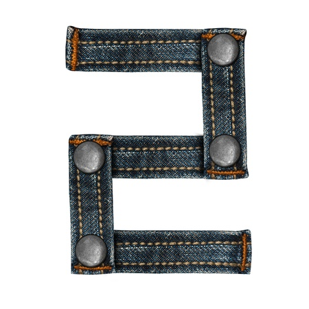 letter of jeans alphabet Stock Photo - 14150418