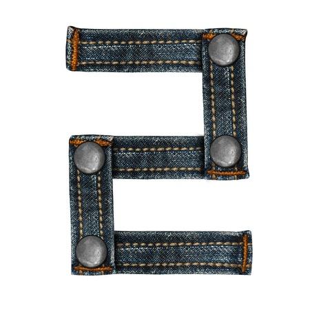 lettera dell'alfabeto i jeans Archivio Fotografico - 14150418