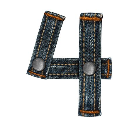 letter of jeans alphabet Stock Photo - 14150386