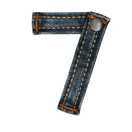 letter of jeans alphabet Stock Photo - 14150368