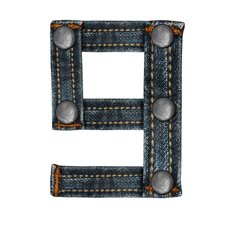 torn metal: letter of jeans alphabet