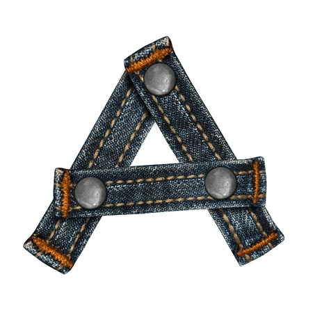letter of jeans alphabet Stock Photo - 14150397