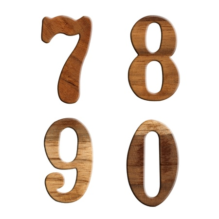 wooden numeric isolate  photo