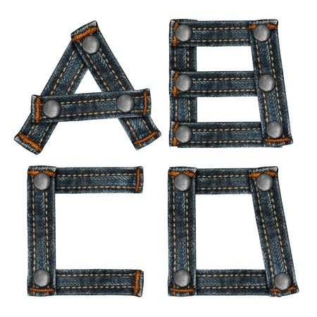 letter of jeans alphabet Stock Photo - 14150477