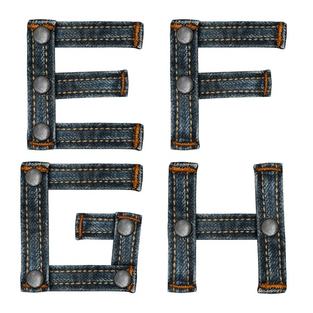 letter of jeans alphabet Stock Photo - 14150475