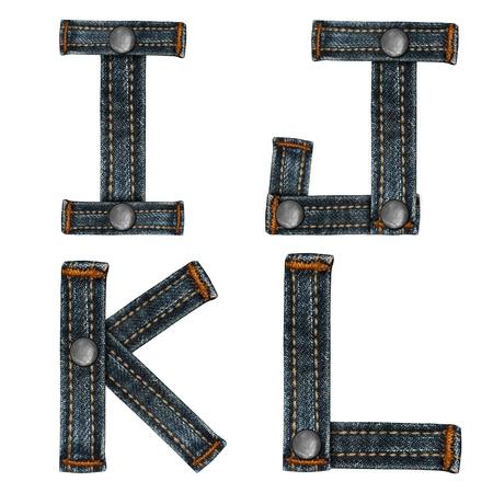 letter of jeans alphabet