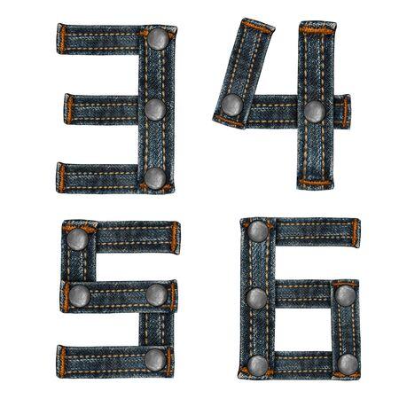 lettre de l'alphabet des jeans