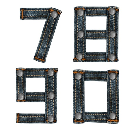 letter of jeans alphabet Stock Photo - 14150474