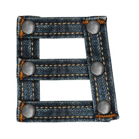 brief van jeans alfabet