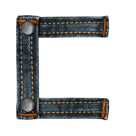 letter of jeans alphabet photo