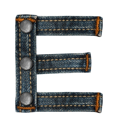 letter of jeans alphabet Stock Photo - 14150421