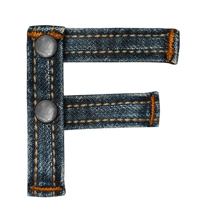 torn jeans: letter of jeans alphabet