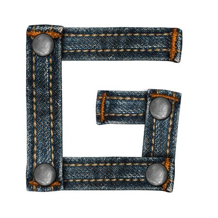 letter of jeans alphabet Stock Photo - 14150458