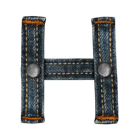 letter of jeans alphabet Stock Photo - 14150412
