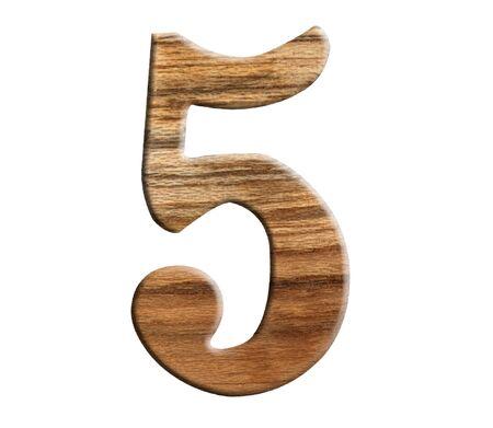 numeric: wooden numeric isolate