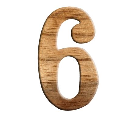 yearly: wooden numeric isolate