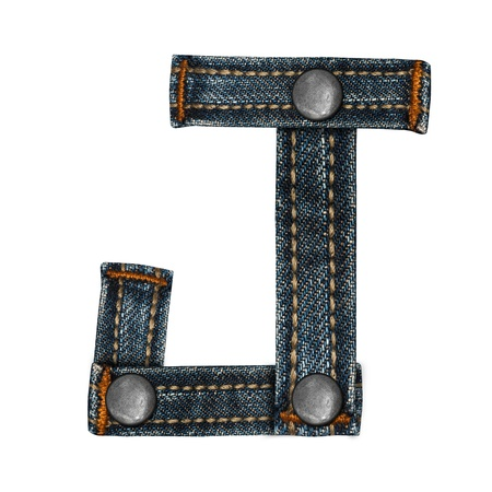 letter of jeans alphabet Stock Photo - 14150393
