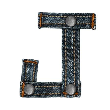 lettera dell'alfabeto i jeans Archivio Fotografico - 14150393