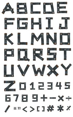 letter of jeans alphabet photo