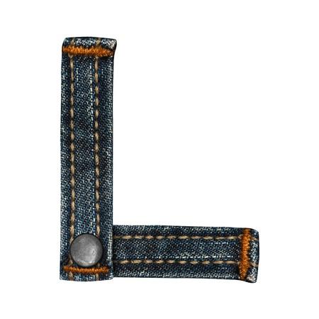 letter of jeans alphabet Stock Photo - 14150367