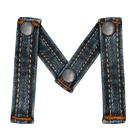 letter of jeans alphabet Stock Photo - 14150428