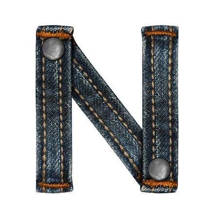 letter of jeans alphabet Stock Photo - 14150422