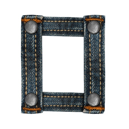 lettera dell'alfabeto i jeans Archivio Fotografico - 14150433