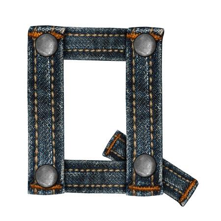 lettera dell'alfabeto i jeans Archivio Fotografico - 14150431