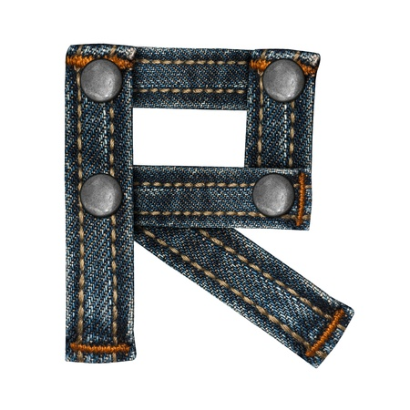 letter of jeans alphabet Stock Photo - 14150427