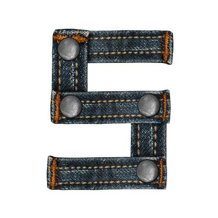 letter of jeans alphabet Stock Photo - 14150399