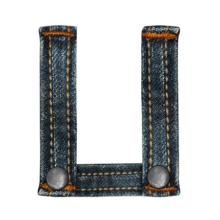 letter of jeans alphabet Stock Photo - 14150402