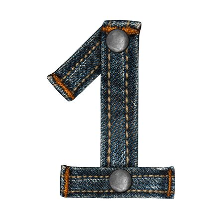 letter of jeans alphabet Stock Photo - 14150371